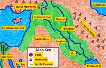 6 Maps for Ancient Civilizations: Mesopotamia, Egypt, Greece, Rome, India, China