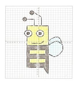 Coordinate Graphing Cartoon Animals- 6 Pictures, Four Quadrants