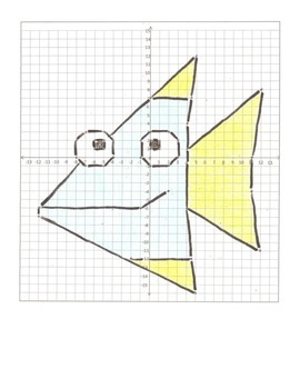 Coordinate Plane Graphing Cartoon Animals- 6 Pictures ...