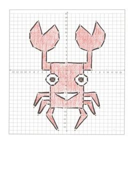 Coordinate Plane Graphing Cartoon Animals- 6 Pictures, Four Quadrants
