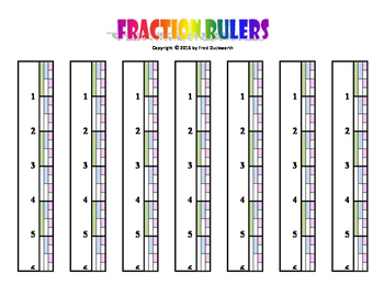"""6"""" Fraction Rulers"""