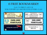 6 Free Bookmarks