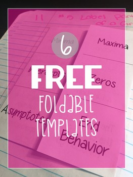 6 Free Foldable Templates