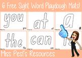 6 Free Sight Word Playdough Mats !