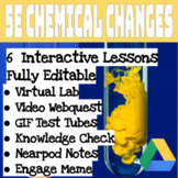 6 Fully Editable 5E on Chemical Changes Digital Lessons