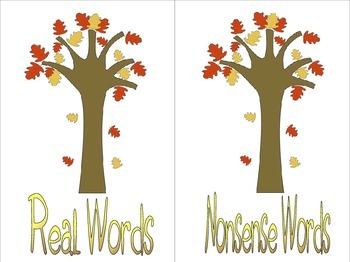 6 Fun FALL Activities Packet! NWF, Digraphs, Magic E and MORE!