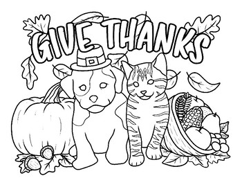 6 Fun Thanksgiving Coloring Pages