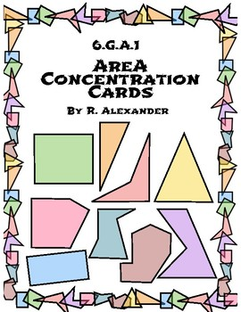 6.G.1 Area Concentration Game Cards