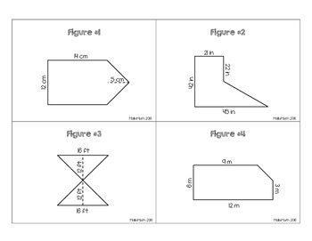 6.G.1 Area of Composite Figures Task Cards