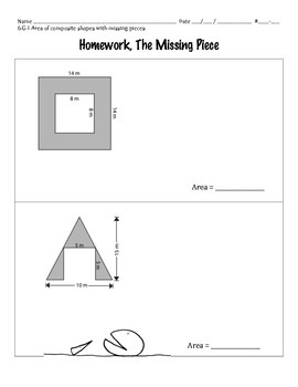 6.G.1 - Area of Composite Shapes with Missing Pieces