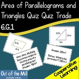 6.G.1 Area of Parallelograms and Triangles Quiz Quiz Trade