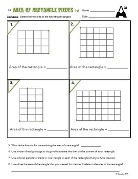 6.G.1  Area of Rectangle Pieces