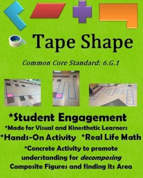 6.G.1- Tape Shape Activity and Lesson Plan
