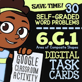 6.G.1 Task Cards | Area of Composite Figures Task Cards For Google Classroom™