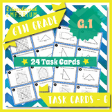 6.G.1 Task Cards: Areas: Compose, Decompose, and Real-World, 6.G.1 Centers