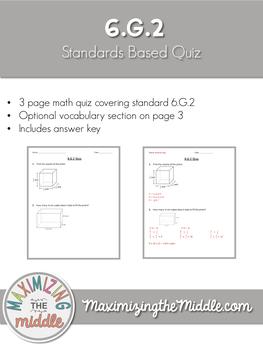 6.G.2 Quiz