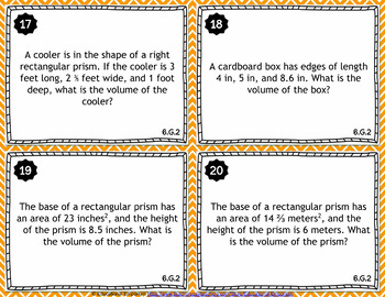 6.G.2 Task Cards: Areas: Volumes of Right Rectangular Prisms, 6.G.2 Centers