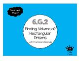 6.G.2 Volume of Rectangular Prisms Dominoes Match