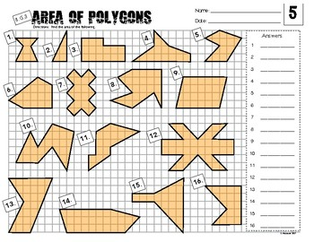 6.G.3 Area of Irregular Polygons