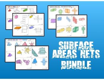 6.G.4 Surface Area Nets Bundle