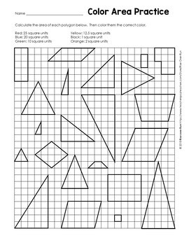6.G.A.1 Area Coloring Activity, free