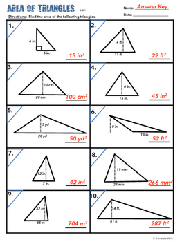 6.G.A.1 Area of Triangles