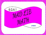 6.G.A.1 Printable Mad Lib Math Activity (Triangles, Quad, Composite Shapes)