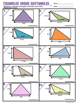 6.G.A.1 Triangles Inside Rectangles