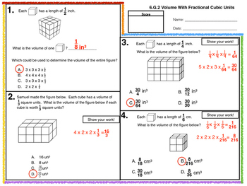 6.G.A.2 Volume with Fractional Cubic Units
