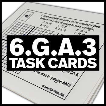 6.G.A.3 Task Cards - Graph Polygons, Find the Perimeter, A