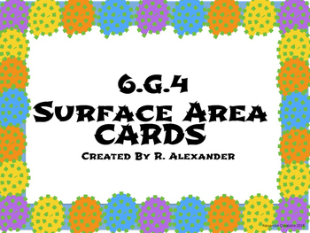 6.G.A.4 Surface Area Cards