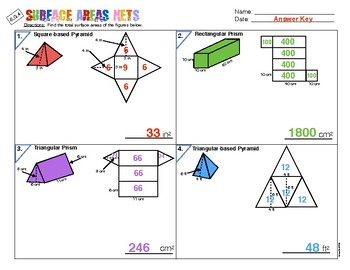 6.G.A.4 Surface Area Nets