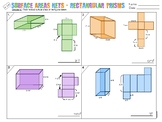 6.G.A.4 Surface Area Nets: Rectangular Prisms