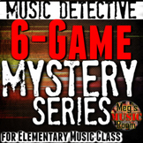*6-Game Music Detective Bundle - Elementary Music - PowerPoint & SMART Notebook