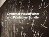 6 Grammar PowerPoints and 8 Grammar Printables and Keys Bundle