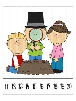 6 Groundhog Day Number Order Puzzles {FREEBIE}