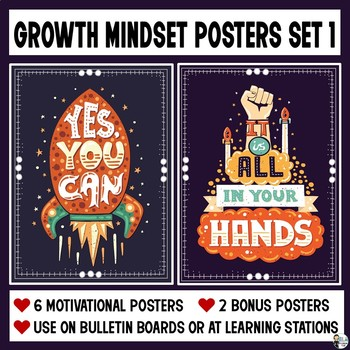 6 Growth Mindset Posters