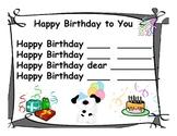 6 HF Sight Words Interactive Birthday Poems