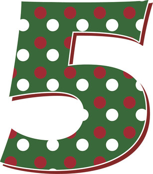 "6 Holiday Red Green Decorative Alphabets – Spanish Glyphs - 5"" Clip Art Letters"