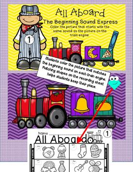 6 INTERACTIVE DIGITAL TASK CARD CENTERS - Beginning Consonant Sounds-Train Theme