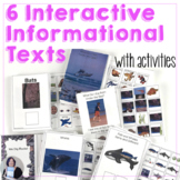 6 Informational Science Texts Interactive Books Bundle for speech and special ed