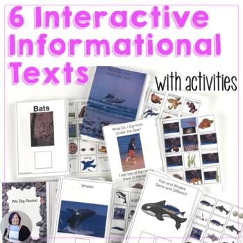 6 Informational Text Interactive Books Bundle for speech a