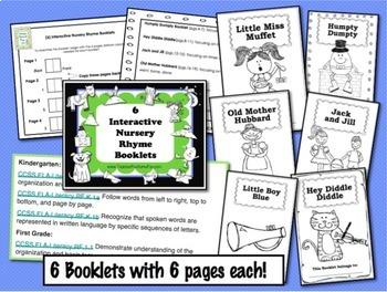 Nursery Rhymes Activities Interactive Booklets