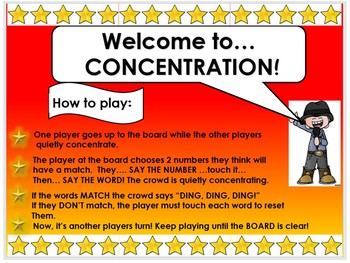6 Interactive Smartboard SIGHT WORD Concentration Games