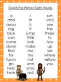 6 Jacob and Esau themed Dolch Sight Word Lists. Preschool-3rd Grade Reading