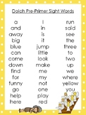 6 Jacob's Ladder themed Dolch Sight Word Lists. Preschool-3rd Grade Reading