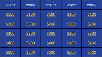 6 Jeopardy Templates