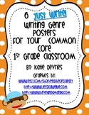 6 Just Write Writing Genre Posters for Your Common Core Classroom Sock Monkeys