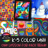 6-Lesson Vertical Elementary Art Color Unit Bundle