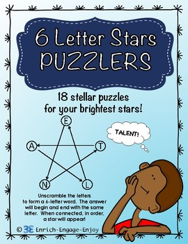 6 Letter Stars Puzzlers